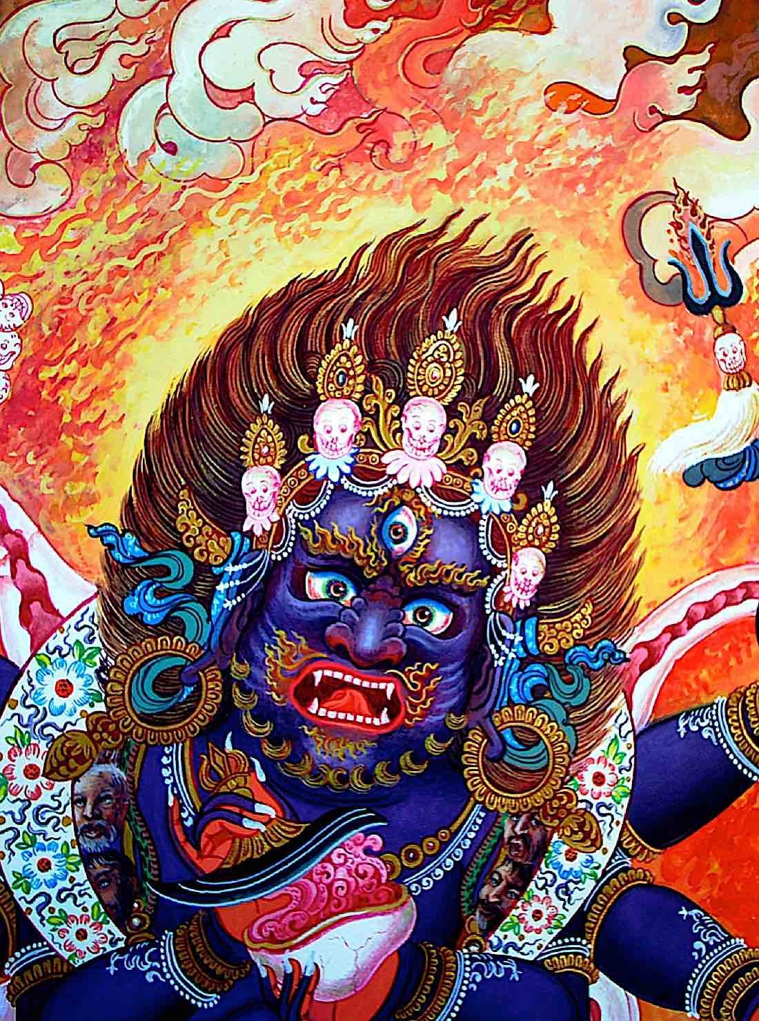Buddha Weekly Mahakala head only Buddhism