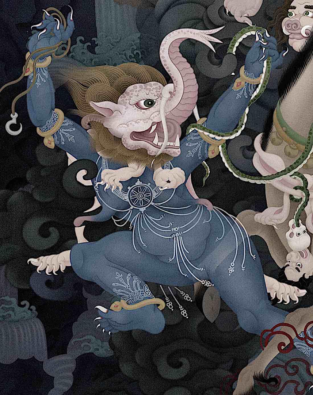 Buddha-Weekly-Makala-Faced Dakini-Buddhism - Buddha Weekly: Buddhist