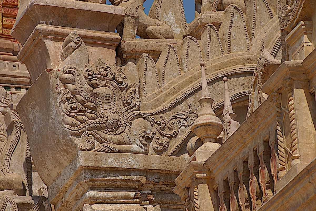 Buddha Weekly Makara detail at Ananda Phaya Temple Bagan Myanmar Burma dreamstime xxl 57640308 Buddhism