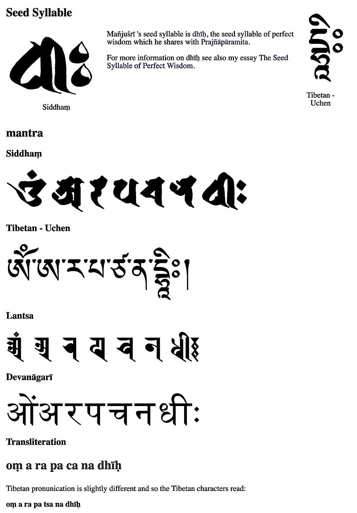 Buddha Weekly Manjushri Mantra Buddhism