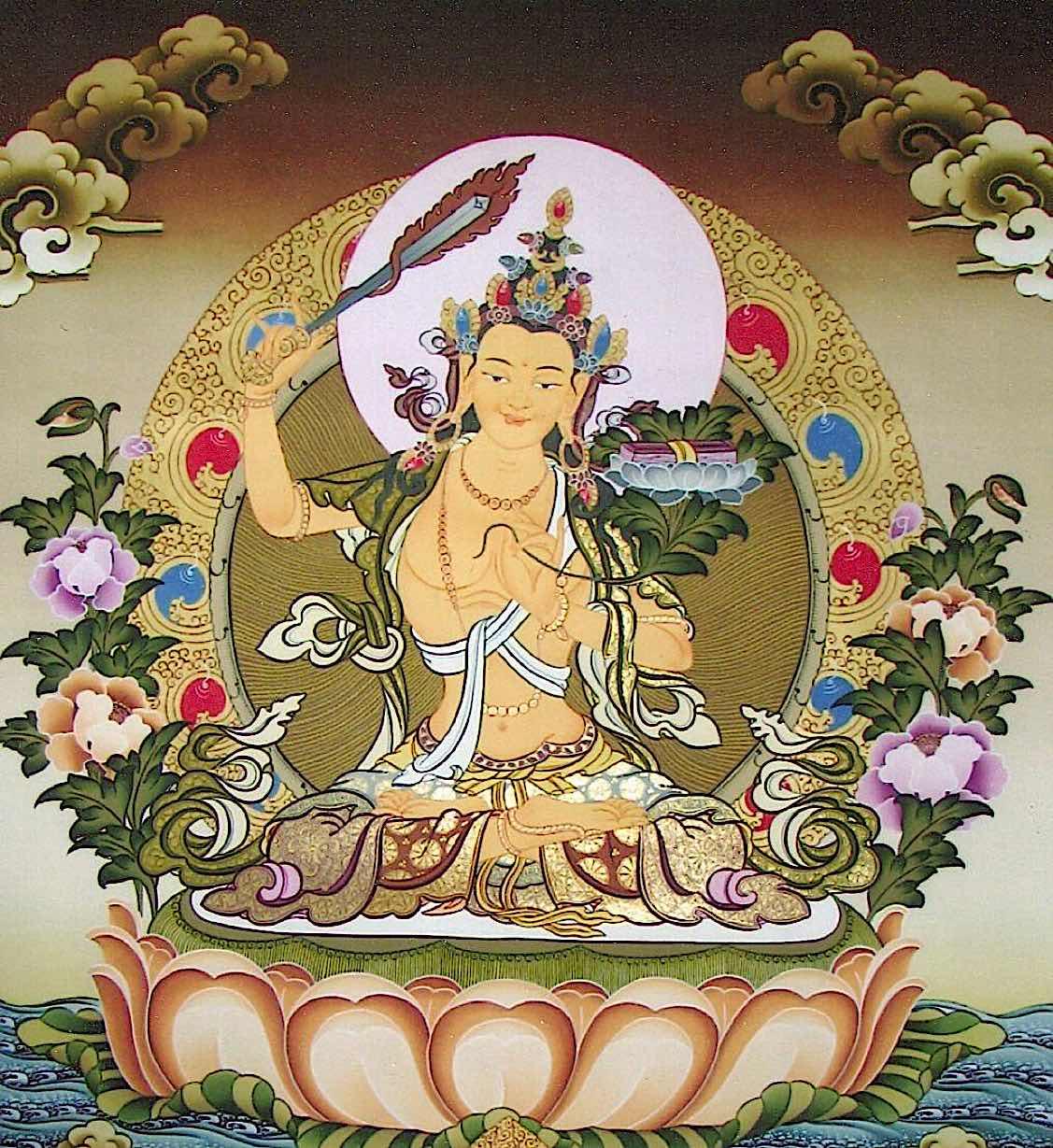 Buddha Weekly Manjushri golden Buddhism