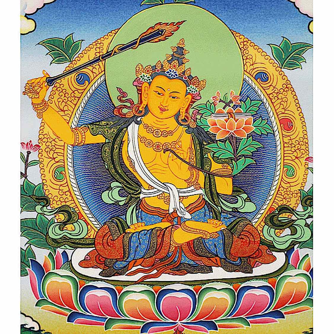 Buddha Weekly Manjushri with wisdom sword Buddhism
