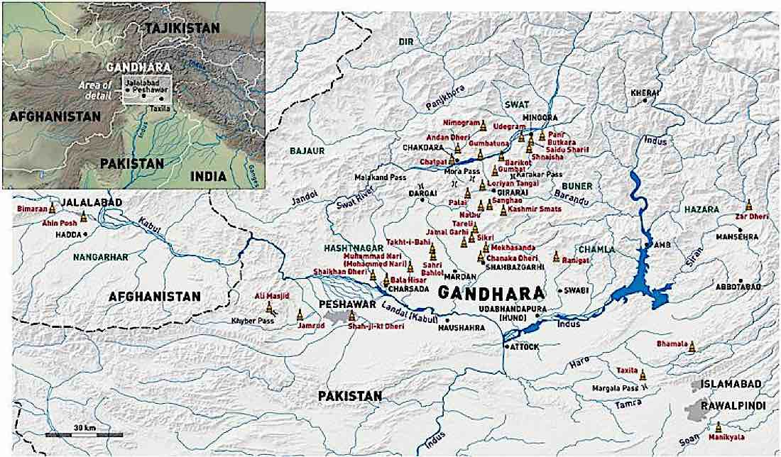 Buddha Weekly Map of Gandhara Buddhism 1