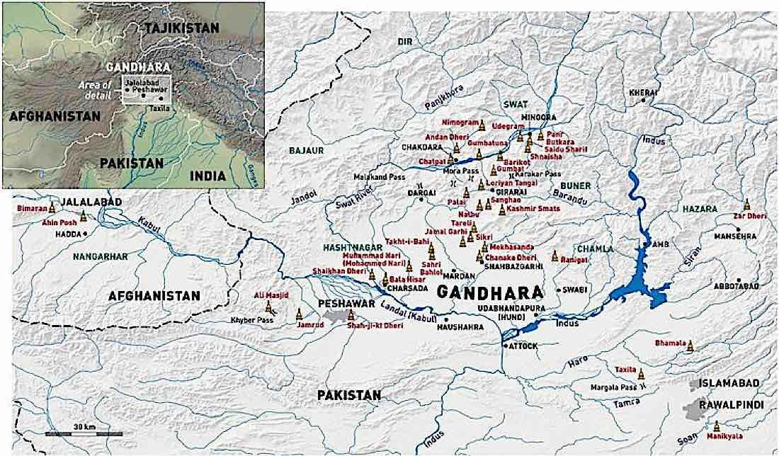 Buddha Weekly Map of Gandhara Buddhism