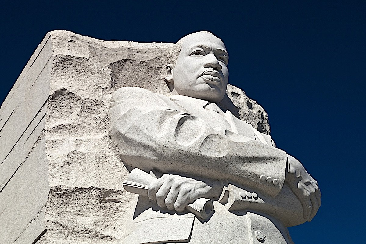 Buddha Weekly Martin Luther King statue memorial National Mall Tidal Basin Washington DC Buddhism