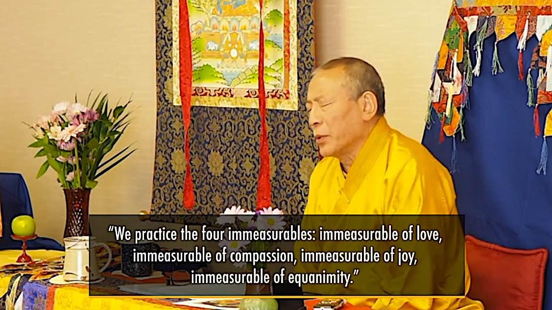 Buddha Weekly Medicine Buddha Retreat 2 Four Immeasurables love compassion joy equanimity Venerable Zasep Rinpoche Buddhism