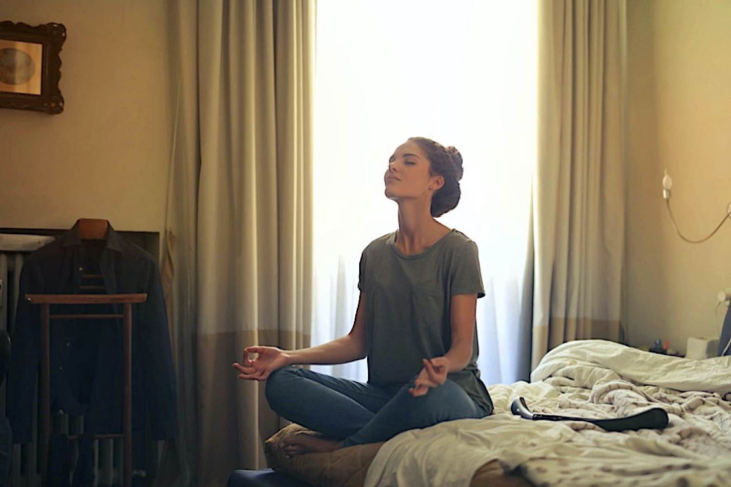 You can meditate anywhere, anytime.