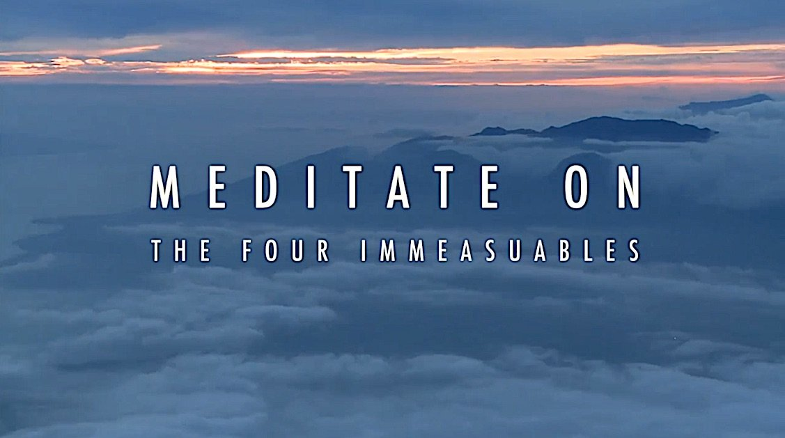 Buddha Weekly Meditate on The Four Immeasurables clouds Buddhism