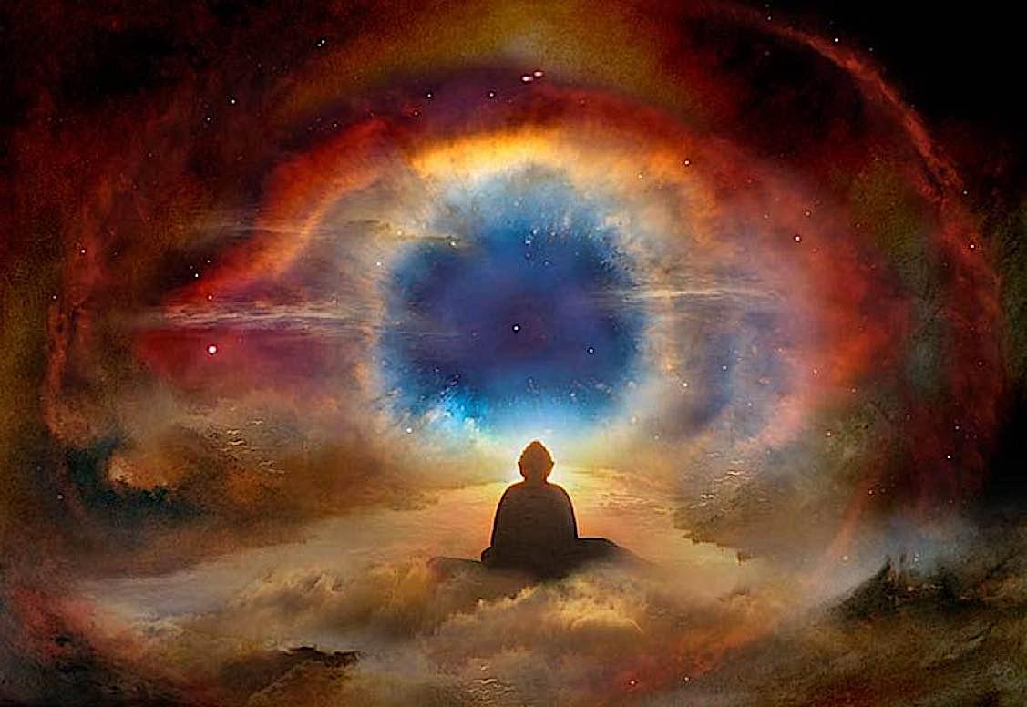 Buddha Weekly Meditatin in cave mystical Buddhism