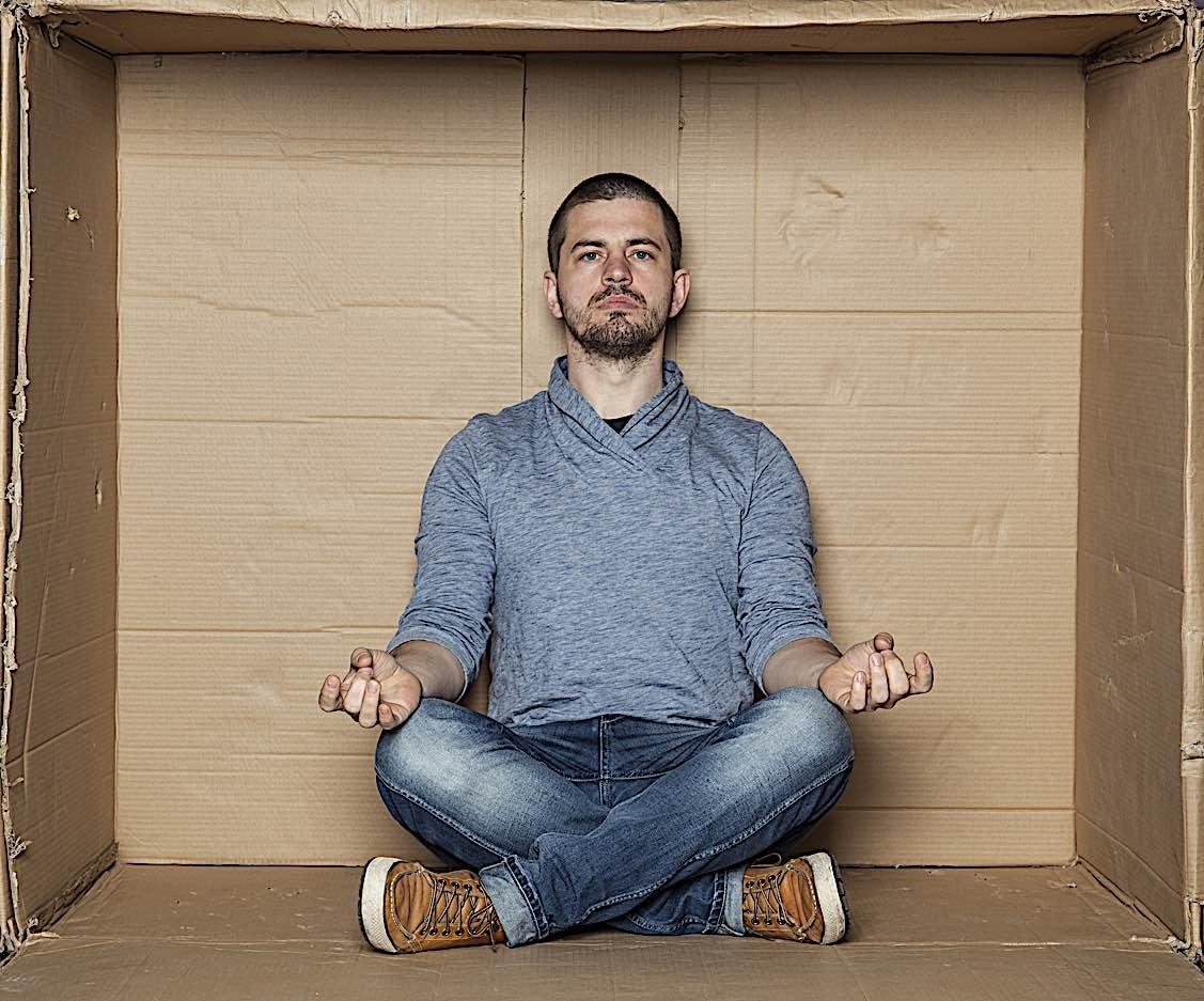 Buddha Weekly Meditation in a cardboard box Buddhism