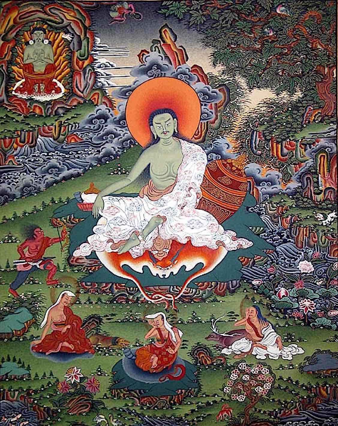 Buddha Weekly Milarepa tangkha Buddhism