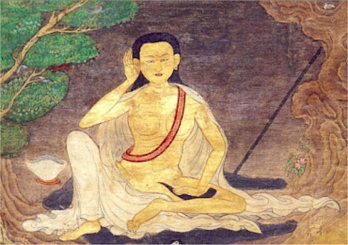 Buddha Weekly Milarepa water color Buddhism