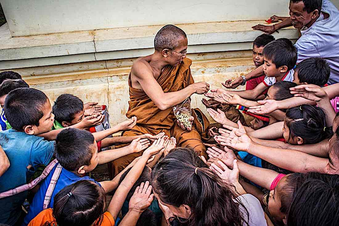 Buddha Weekly Monk with Buddhist Children by Suraphat Nuea on Pexels Buddhism