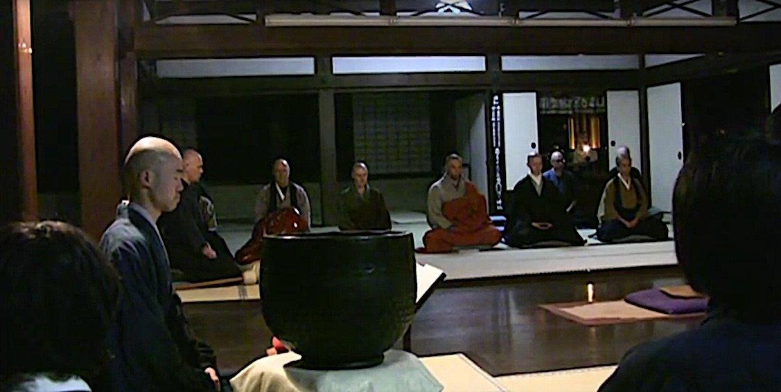 Buddha Weekly Morning ceremony in Japanese Zen Monestary Sogen Ji Buddhism