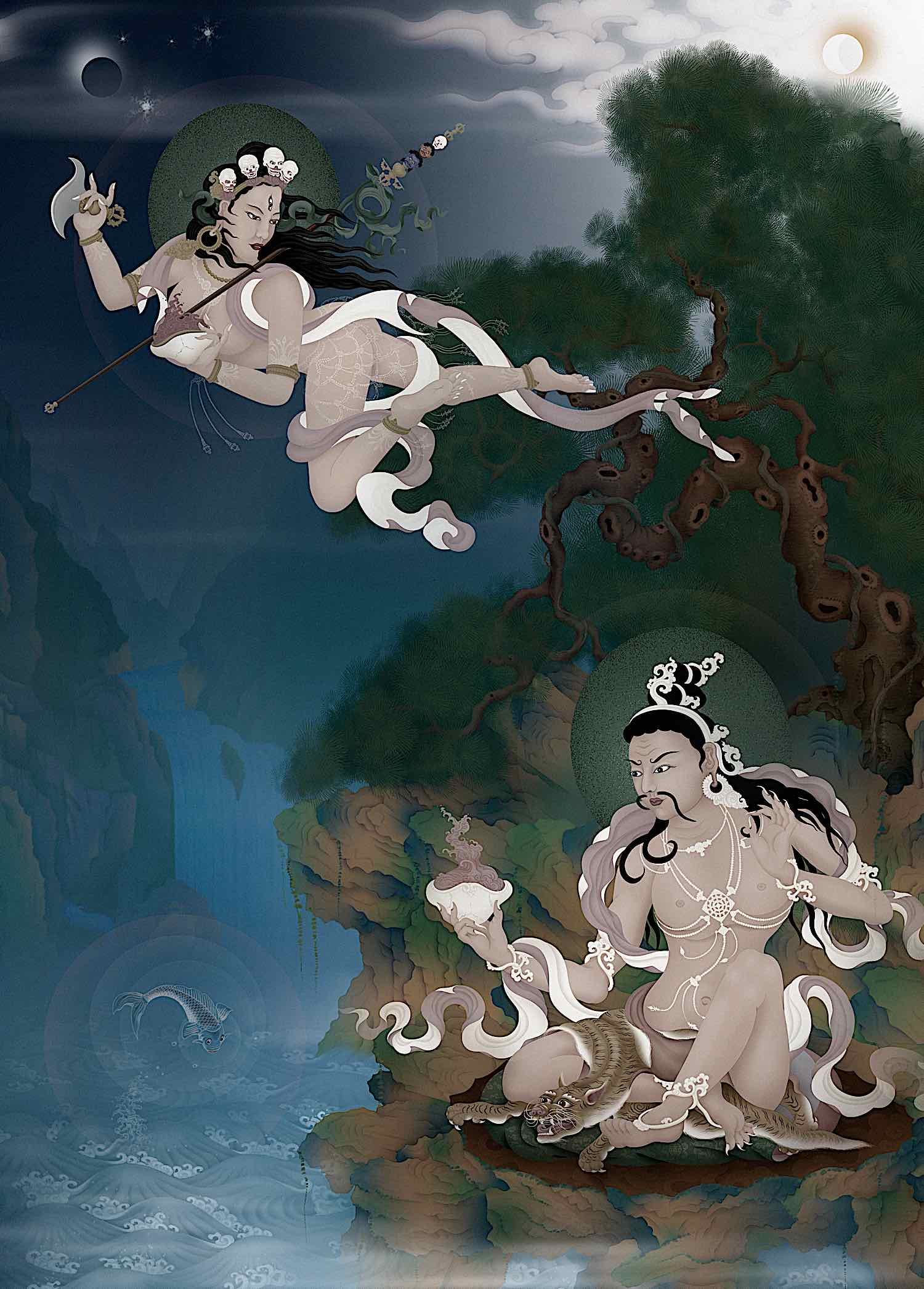 Buddha Weekly Narokachu Tilopa Dakini flying by Ben Christian Buddhism
