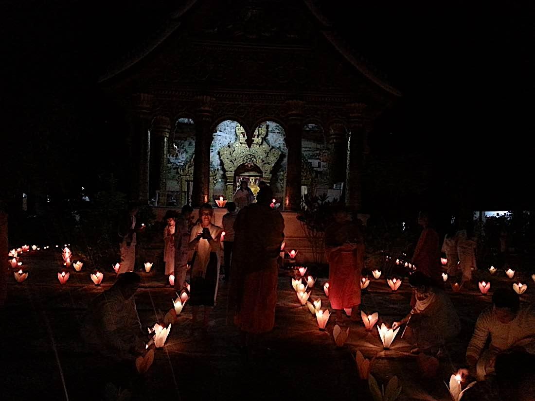 Buddha Weekly New years eve meditating with monks Buddhism