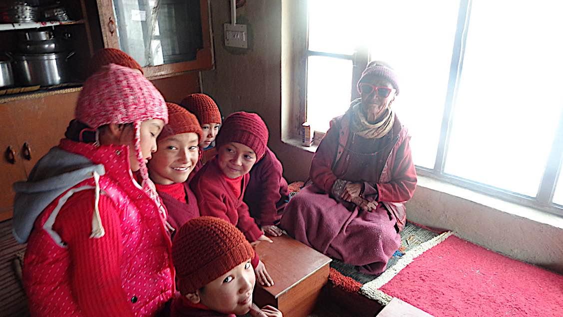 Buddha Weekly Nuns Zangla Byangchub Choling Nunnery in Zanskar Valley Ladakh India Buddhism