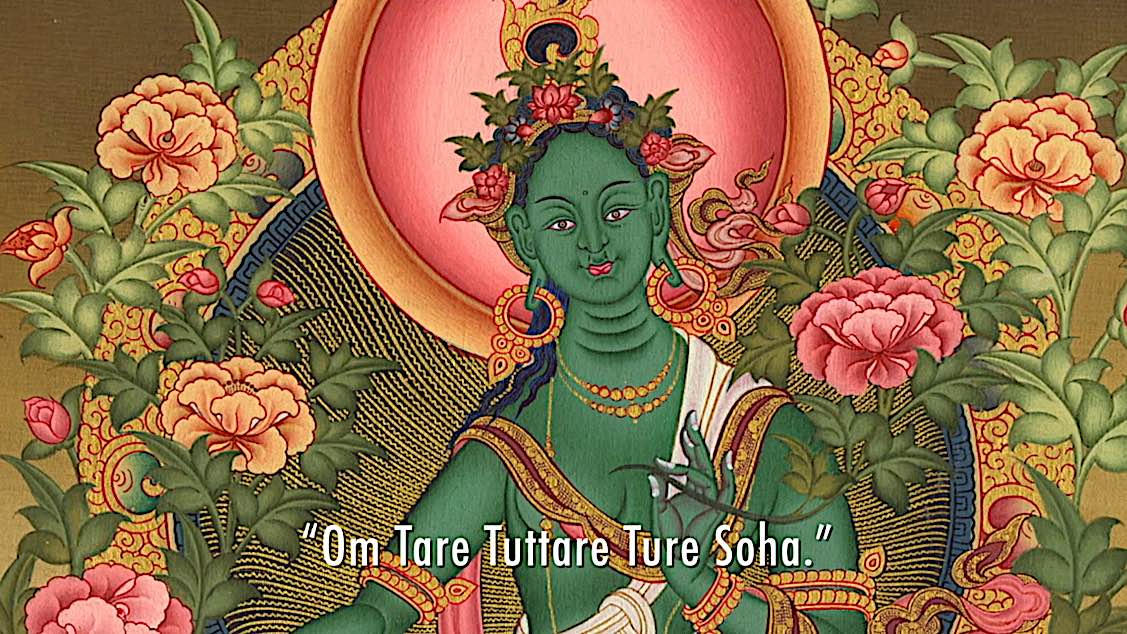 Buddha Weekly Om Tare Tuttare Ture Soha Green Tara Mantra video Buddhism
