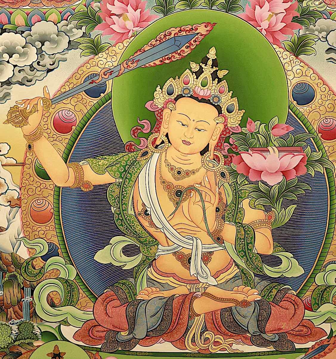 Buddha Weekly Orange Manjushri square Buddhism