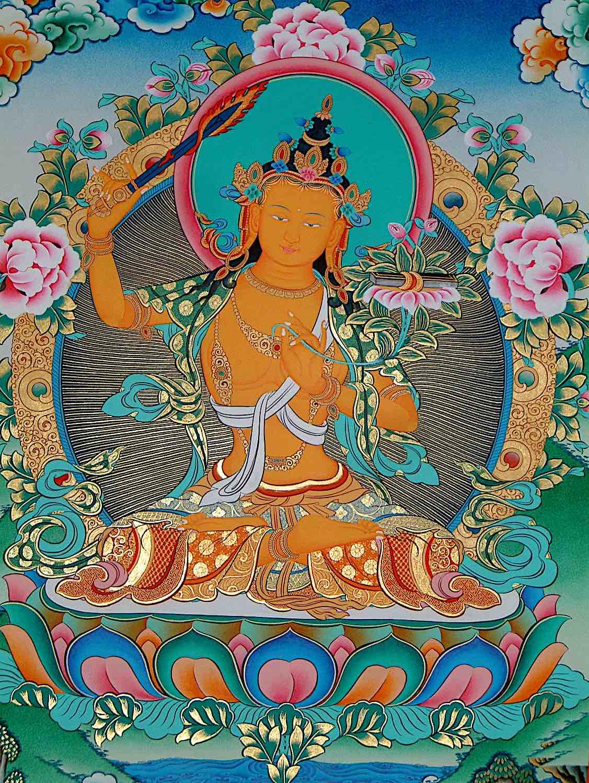 Buddha Weekly Orange Manjushri wisdom Bodhisattva Buddha Buddhism