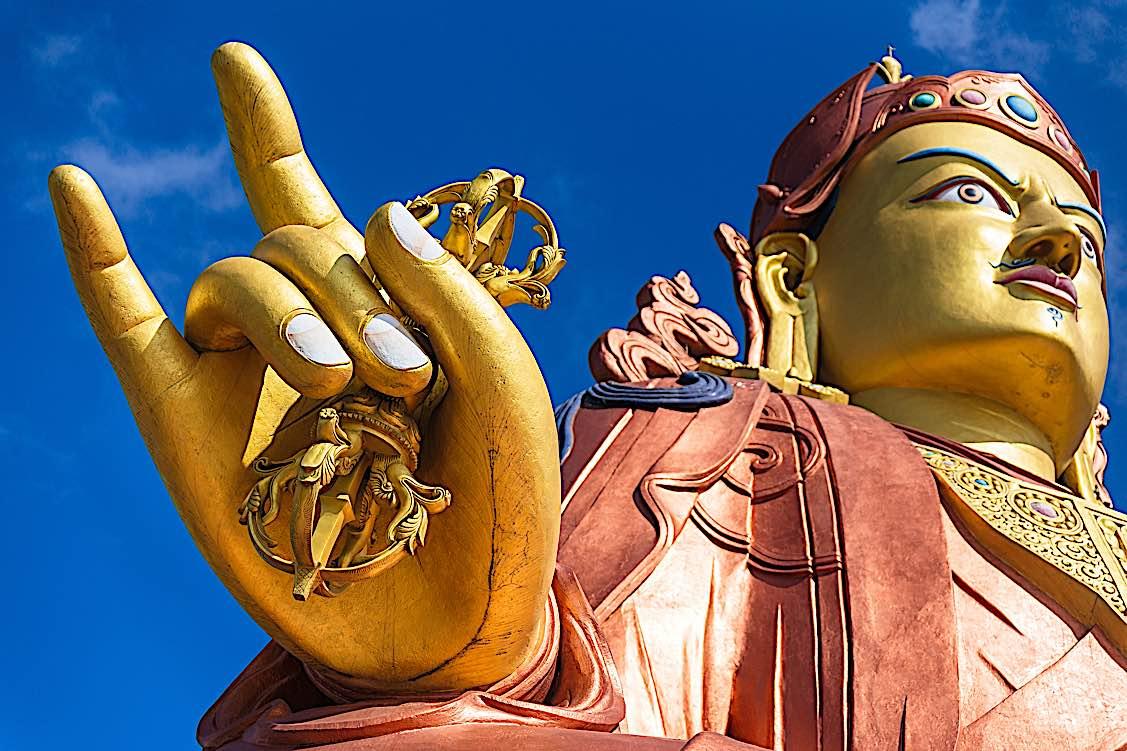 Buddha Weekly Padmasambhava Guru Rinpoche statue temple Buddhism