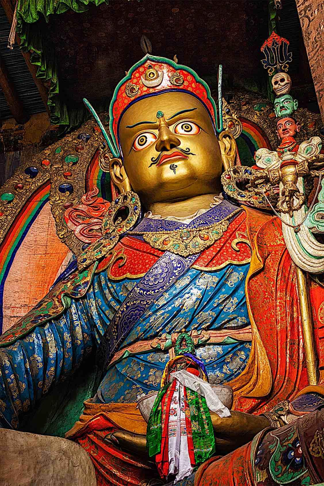 Buddha Weekly Padmasambhava the Lotus Born Guru Rinpoche statue temple Buddhism