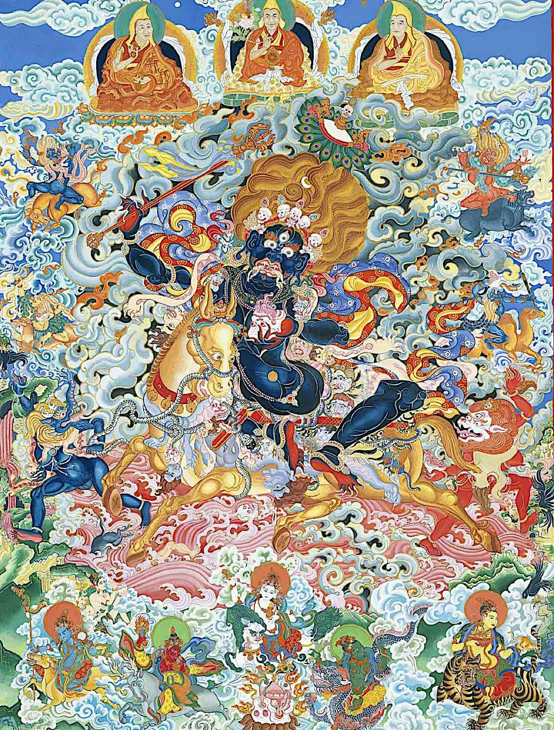 Buddha Weekly Palden Lhamo art by Kayla Kimoto available on Etsy as prints Buddhism