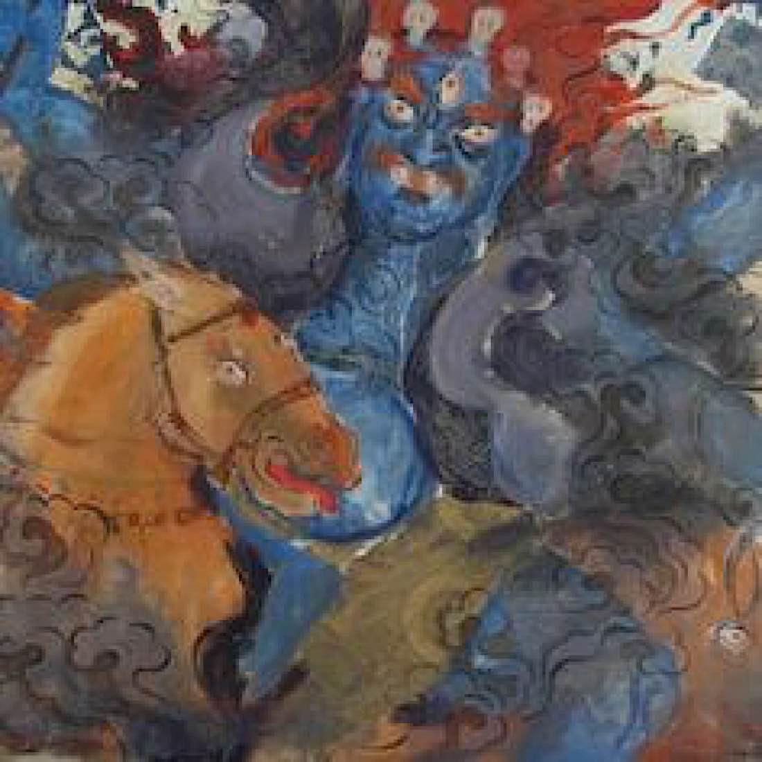 Buddha Weekly Palden Lhamo watercolour Buddhism 2