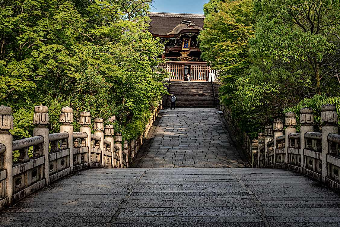 Buddha Weekly Path to Temple in Kyoto Japan Buddhism