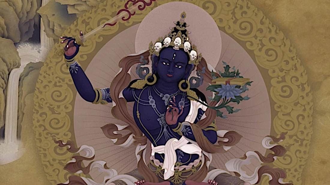 Buddha Weekly Peaceful Black Manjushri Buddhism