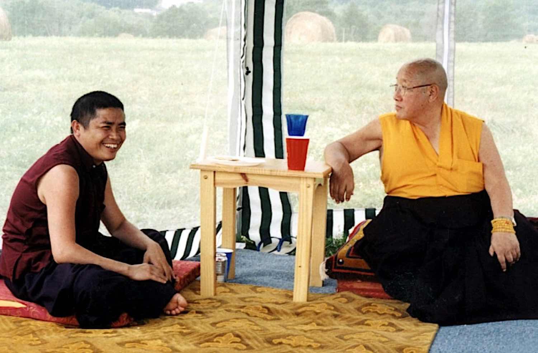 Buddha Weekly Pema Rinpoche with root guru HH Penor Rinpoche Buddhism