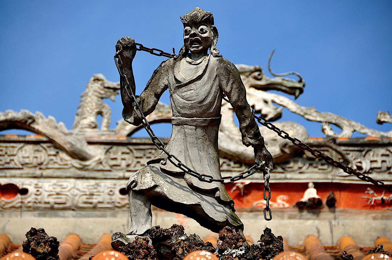 Buddha Weekly Pengzhou China Ghost Figure on Shi Fo Temple Buddhism