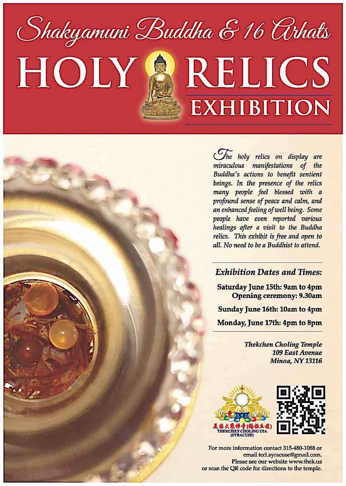 Buddha Weekly Poster Shakyamuni Buddha Relics Exhibit in New York Buddhism