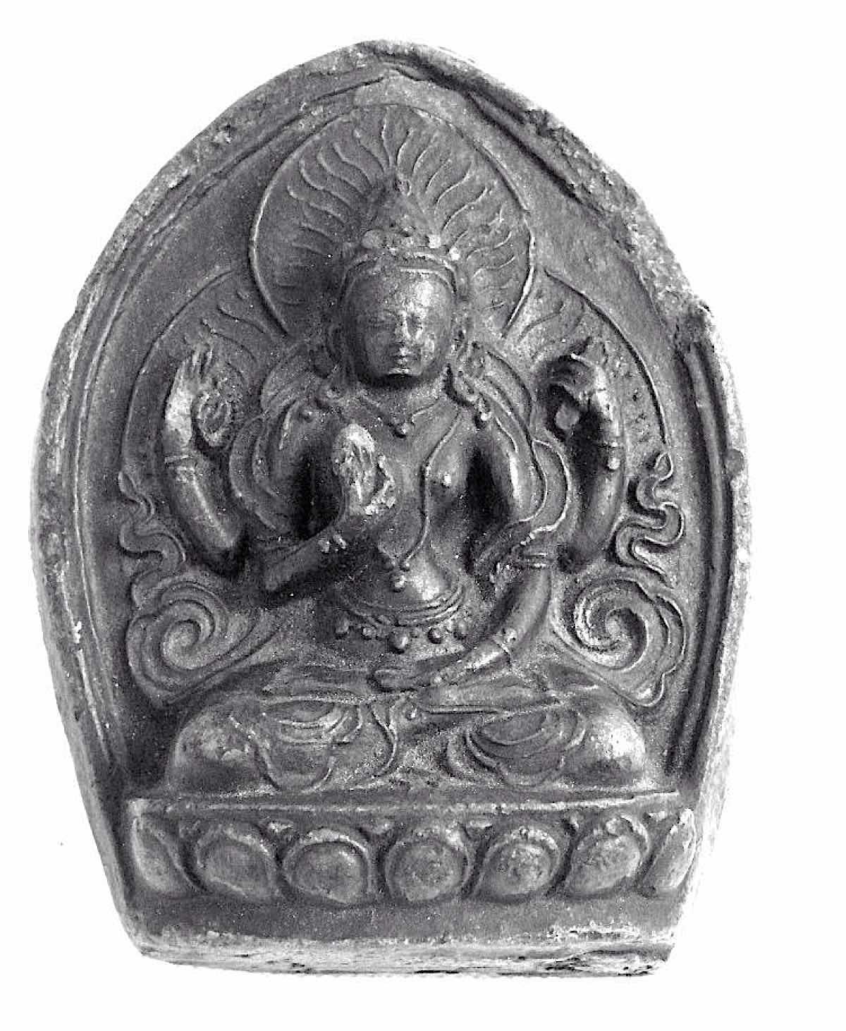 Buddha Weekly Prajnaparamita 4 hands golden Himalayan Art Resources Buddhism 1