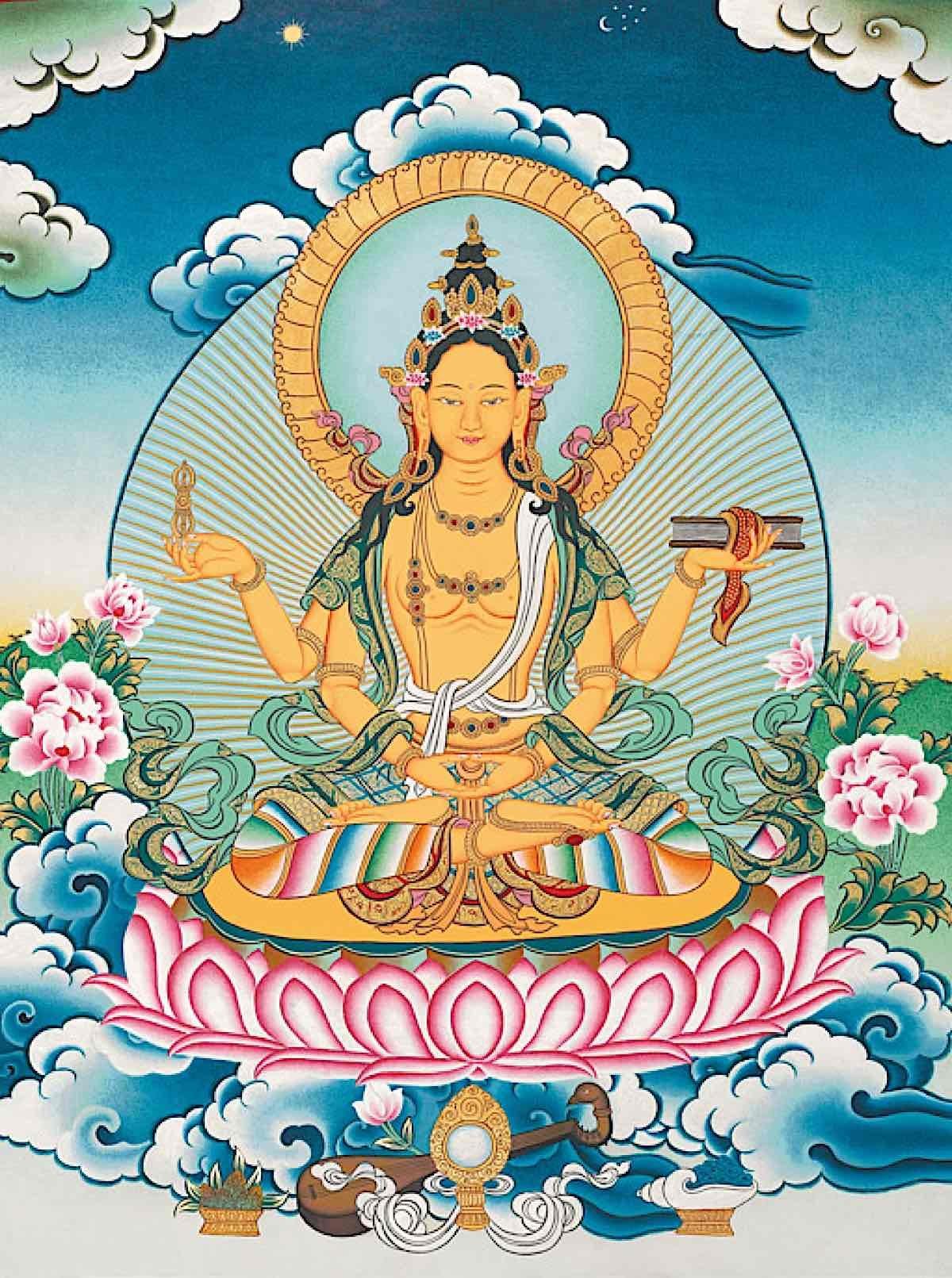 Buddha Weekly Prajnaparamita with four arms Buddhism