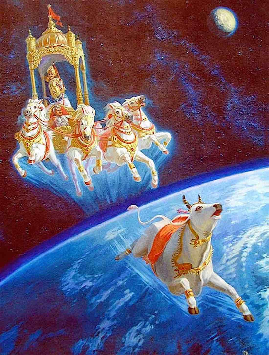 Buddha Weekly Prithvi cow pursued by Buddhism