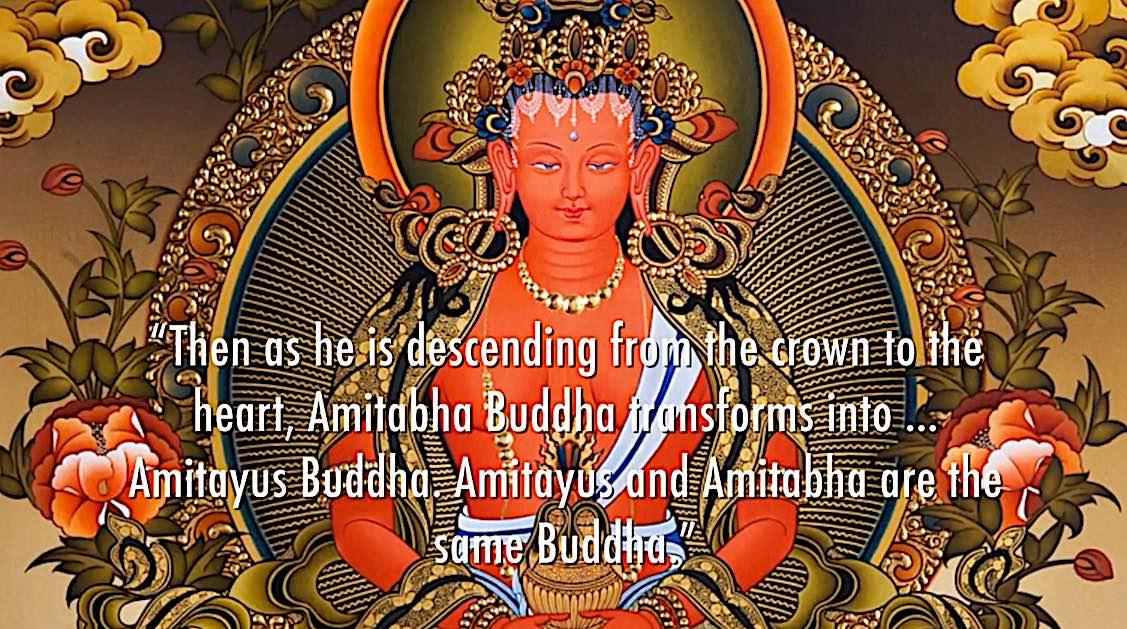Buddha Weekly R Amitabha transforms into Amitayus Buddhism