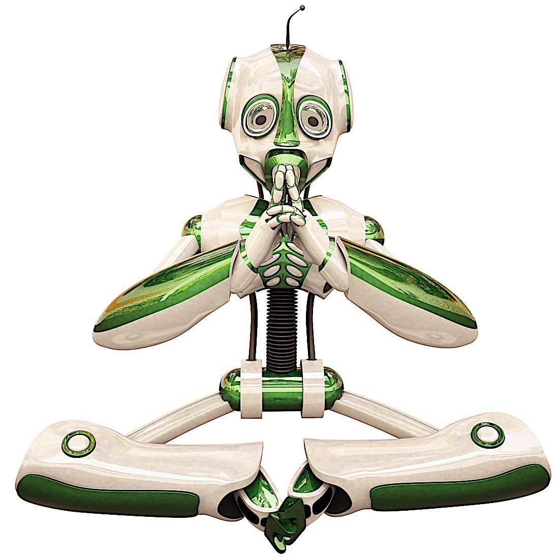 Buddha Weekly Robot meditating AI Buddhism