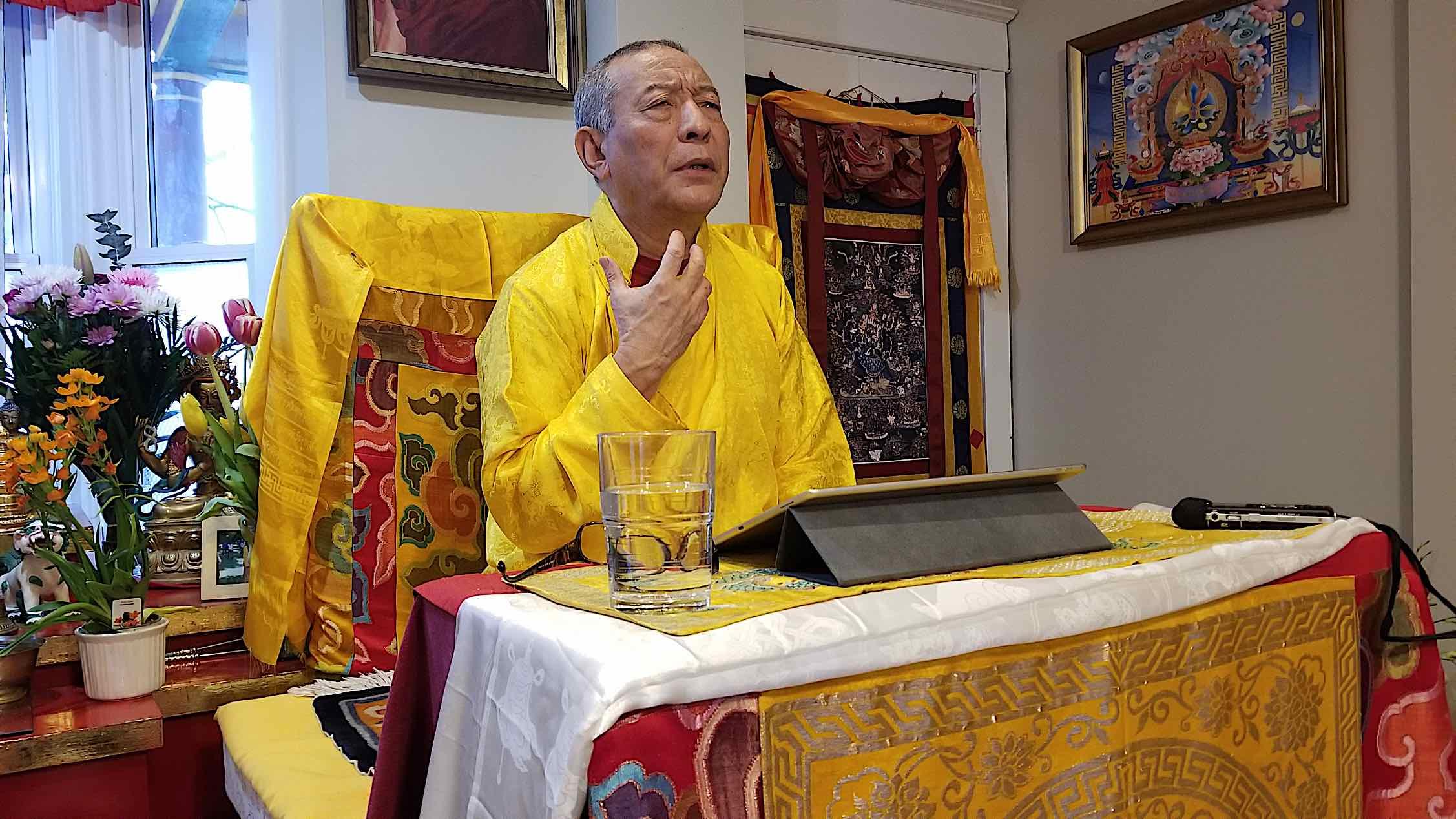 Buddha Weekly Sadhanas on an Ipad with Venerable Zasep Rinpoche Buddhism