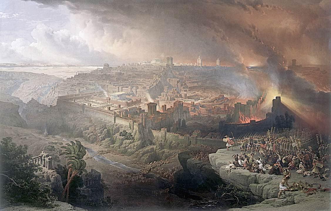 Buddha Weekly Siege and destruction of Jerusalem David Roberts 1850 Buddhism