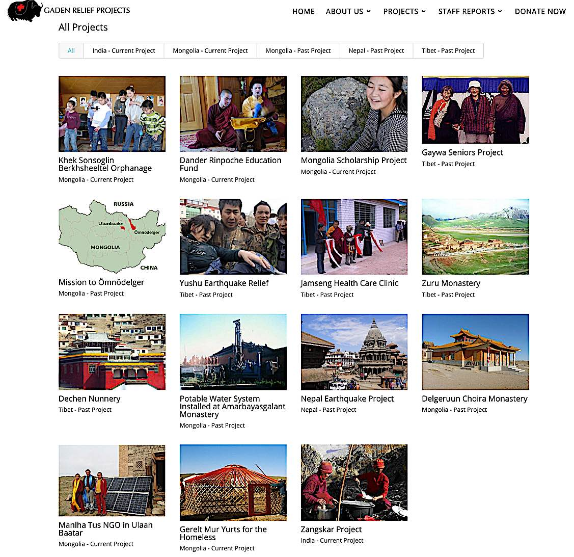 Buddha Weekly Some of the relief projects for Gaden Relief in India Mongolia Nepal and Tibet Buddhism
