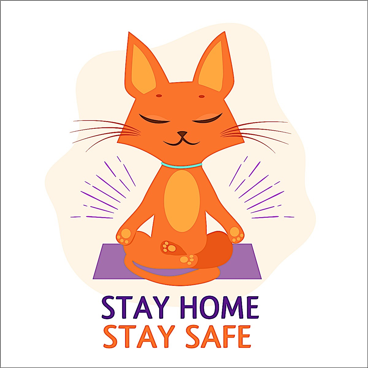Buddha Weekly Stay home stay safe cat meditationg Buddhism