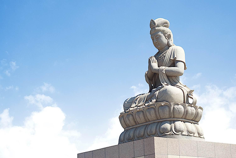 Buddha Weekly Stone statue of Guanyin teaching Taouyuan Taiwan Buddhism