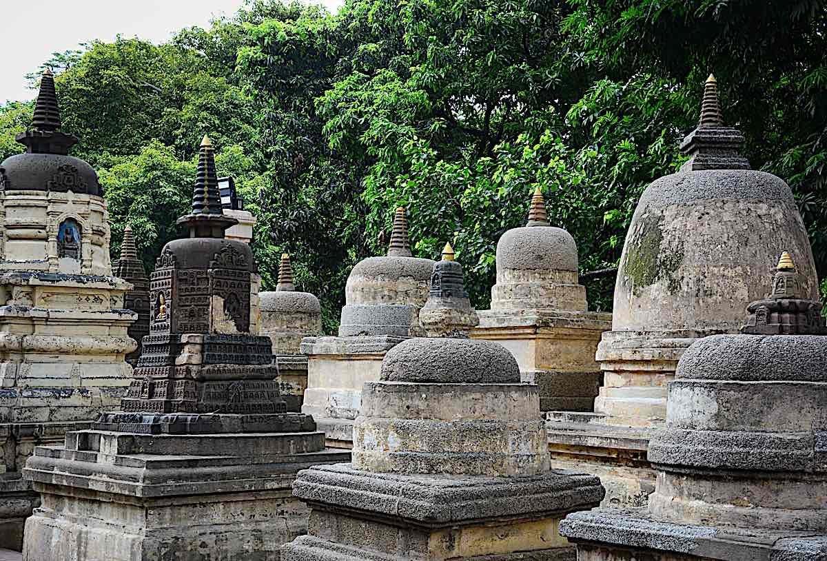 Buddha Weekly Stone stupas at Bodhgaya India 74716900 Buddhism