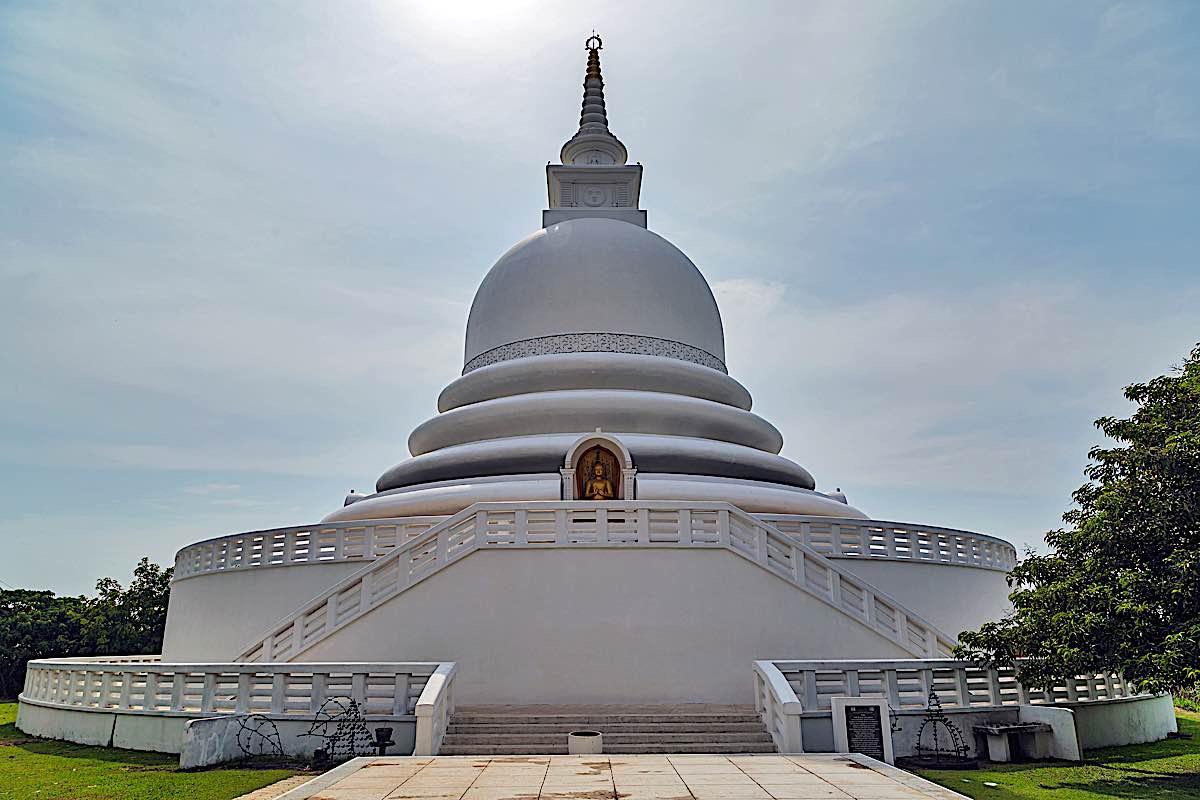 Buddha Weekly Stupa Japanese style Pagoda in Rumassala Sri Lanka 70798652 Buddhism