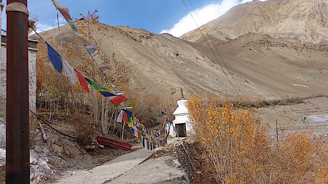 Buddha Weekly Stupa at Zangla Byangchub Choling Nunnery in Zanskar Valley Ladakh India Buddhism