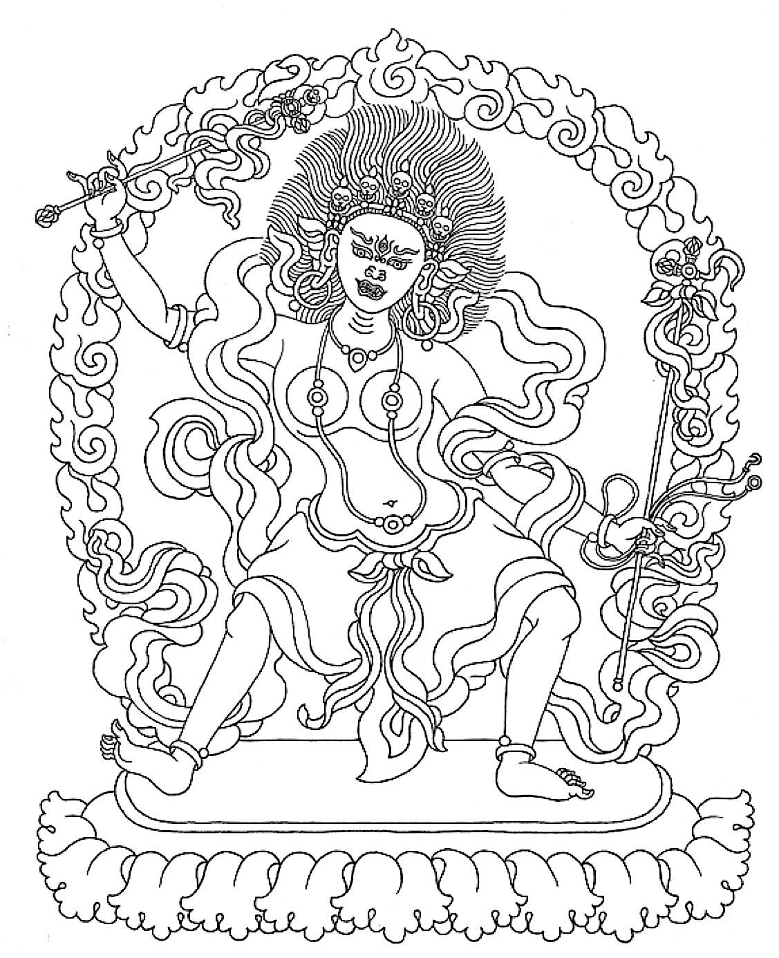 Buddha Weekly Tara 11 Tara Who summons all beings and dispels misfortune Buddhism
