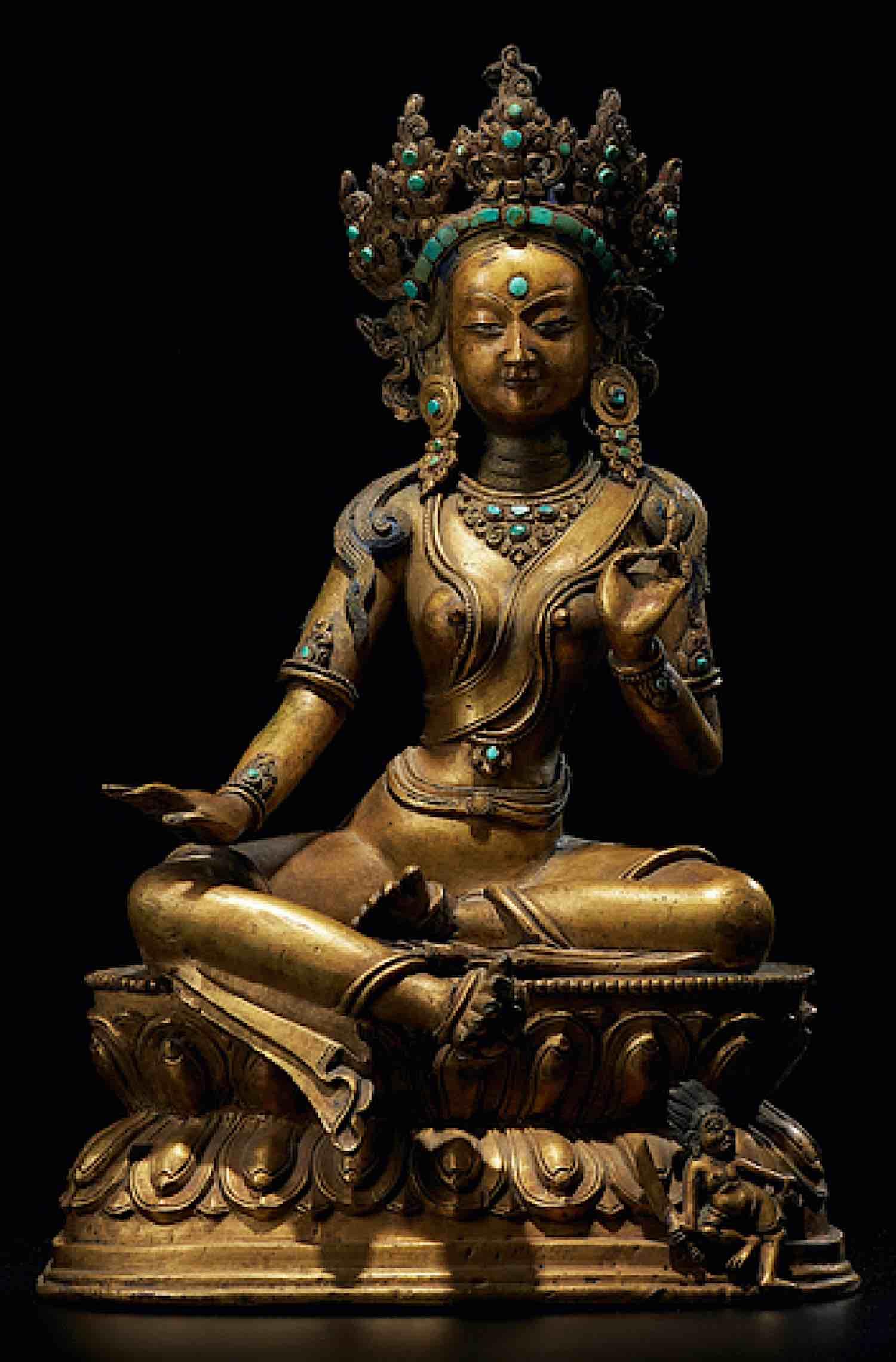 Buddha Weekly Tara Gelug Mongolian antique statue Himalayan Art Buddhism