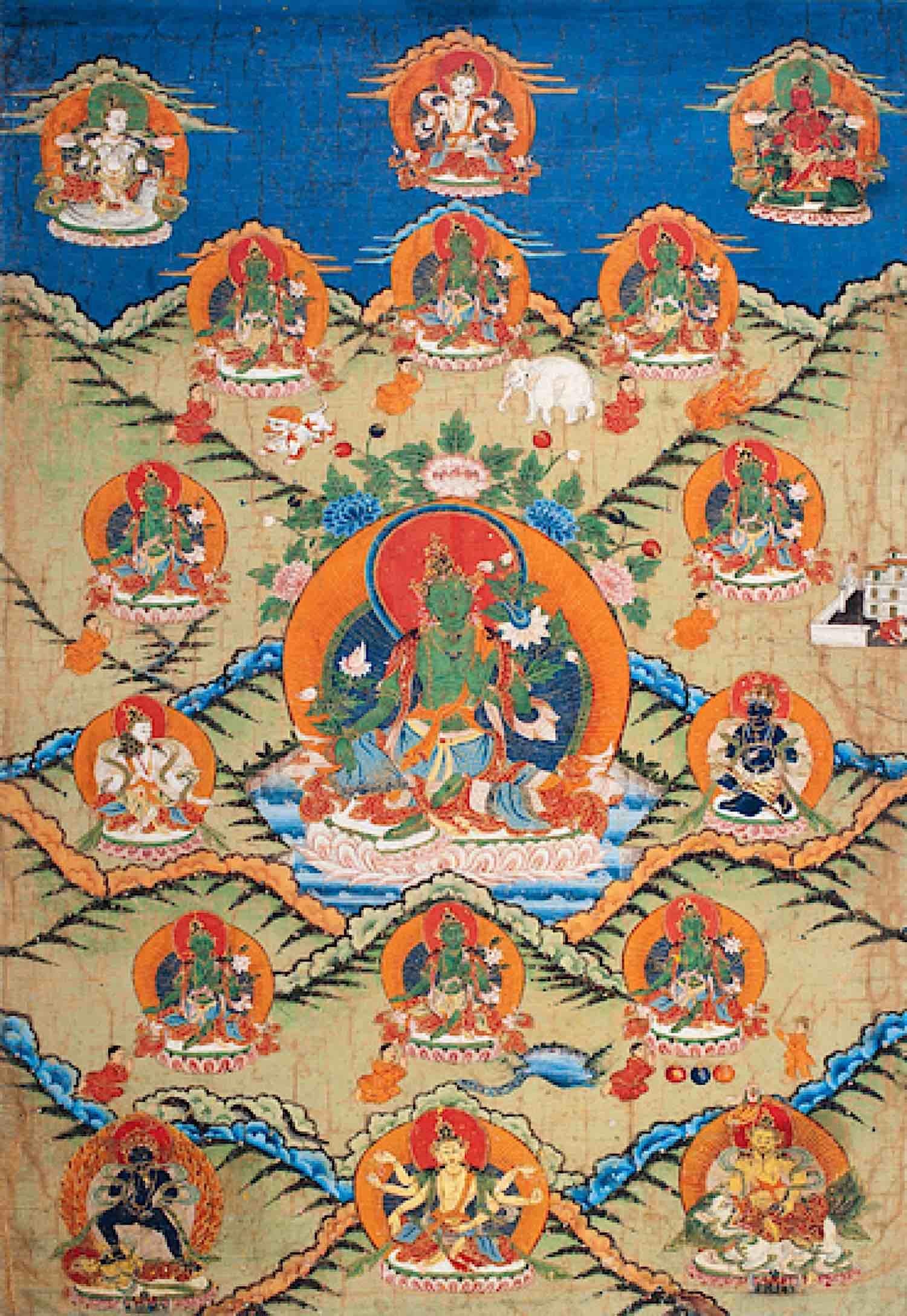 Buddha Weekly Tara and the Eight Great Fears Himlayan Art Buddhism
