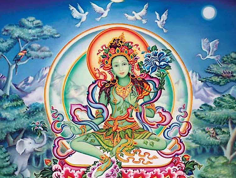 Buddha Weekly Tara of the Kandira Forest Tuquoise Pure Land Yolokod Buddhism 1